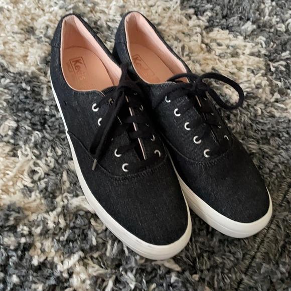 Keds denim platform dream foam sneakers NWOB 8.5